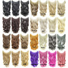 100g 24'' Long Wave Synthetic Fish Line Hair Extensions Halo Hairpiece One Piece