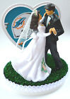 Wedding Cake Topper Miami Dolphins Football Themed Bride Groom Dancing Gift Idea