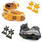 Ice Snow Shoe Spikes Grips Crampons Cleats Hiking Climbing Anti-skid A Pair