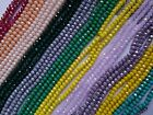 80 Faceted Rondelle Opaque Crystal Glass Loose Beads 4x6mm Jewellery Making Art