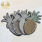 Pineapple Embroidered Sew Patches Motif Applique for Hats Bags Clothes Craft DIY $14.89 USD