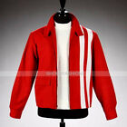 Elvis Presley Speedway Red Cotton Slim Fit Jacket With Stripes