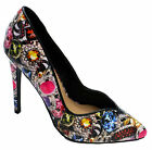 WOMENS SLIP-ON ROCK CHICK HIGH-HEEL COURT EVENING PARTY STILETTO SHOES SIZES 4-9