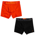 Superdry Tipped Sport Boxer Shorts Double Pack Orange & Black LN4