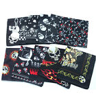 custom handkerchief - Hallowmas Skull Bandana 100% Cotton Handkerchief Head Wrap Bandana Punk Custom