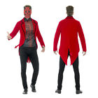 Smiffys Mens Day Of The Dead Devil Suit Halloween Fancy Dress Costume Outfit