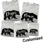 Mama Papa Baby Bear T Shirt Mothers Day Family Matching Mommy Daddy Tshirts