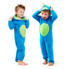 Childs Dragon Monster All In One Boys Girls Fleece 3D Spikes Hooded Sleepsuit