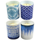 1pce 9cm Premium Candle with Blue Stained Design 180g  candles 9cm | Diameter 9cm high 18 Langkou shape 18 key remote control candle light 3226629611714040 4