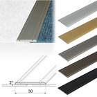 2.7m FLAT SELF ADHESIVE ALUMINIUM DOOR FLOOR EDGING BAR-TRIM-THRESHOLD-30mm