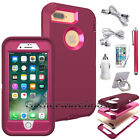 Shockproof Bumper Rubber Hard Case Cover for Apple iPhone 6 6S 7 Plus +Accessory