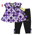 NWT Laura Ashley Baby Girls Shirt with legging outfit Size 3 6 9 12 18 24 months