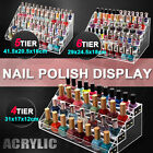 Makeup Nail Polish Stand Rack Display Organizer Holder Acrylic Clear 60 Bottles