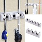 Wall Mount Magic Mop and Broom Holder Hanger Cleaning Tool Organizer