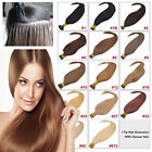 """Remy 100S 18"""" 20"""" 22"""" 26"""" Stick Tip Real Human Hair Extension black brown blonde"""