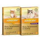 ADVOCATE for Cats -Fleas, Heartworm,Hookworm, Roundworm &Ear Mites -3Pack - SYD