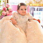 Champagne Baby Baptism Gowns Christening Dress Formal Pageant Custom Half Sleeve