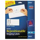 Avery Repositionable Address Labels, Inkjet/Laser, 2 x 4, White, 250/Box - A ...