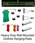 Wall Mounted Clothes Rail Garment Hanging Rack Display Tube Shops Home 25mm