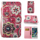 For iPhone 5 SE 6S 7 8Plus iPod Cartoon PU Leather Wallet Case Flip Stand Cover