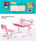 NEW Kid's Height Adjustable Ergonomic Modern Desk &Chair With LED Lamp-Einstein