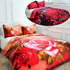 3D Photographic Rose Duvet Cover + Pillow Cases Quilt Cover Bedding Set ALL SIZE