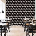 Modern PVC Wallpaper Roll Contracted Wall Covering Geometric Vinyl Contemporary