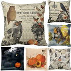 US Halloween Pillow Cases Linen Sofa Bedroom Office Cushion Cover Home Decor Hot