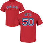Mookie Betts Boston Red Sox #50 MLB Men's Player Name & Number T-shirt