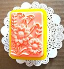 Silicone Flower honeybee Soap Mold bee candle mould sunflower Single 1 Cavity