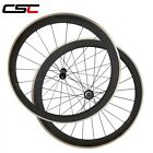 CSC 25mm Wide 50mm Clincher carbon road wheels Alloy Brake Surface Straight Pull