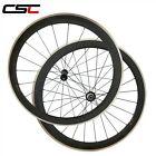 CSC 23mm Wide 50mm Clincher carbon road wheels Alloy Brake Surface Straight Pull