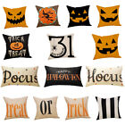 Halloween Pillow Cases Linen Sofa Pumpkin ghosts Cushion Cover Home Room Decor