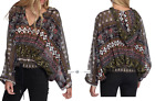 FREE PEOPLE  Sz M/L Hold On Tight Gauze Pullover Top New Tags tg