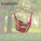 Hammock Hanging Rope Chair Porch Swing Seat Patio Garden Camping Portable 2Color