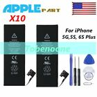 """10X 2750mAh Li-ion Battery Replacement For Apple iPhone 5 5s 6S With the addition of 5.5"""" LOT EJ"""
