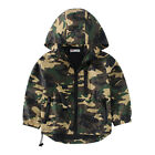 Boys Camouflage Jacket Autumn Thin Windproof Kids Hooded Coat Outerwear Clothes