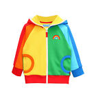 Mud Kingdom Kids Girl Fashion Sweatshirt Hoodies Rainbow Jacket Coat Outwear