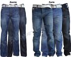 "NEW MENS SMITH & JONES BOOTCUT FLARED & STRAIGHT LEG BLUE JEANS 28"" - 48"" Waist"