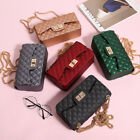 Fashion New Momen Lady's PVC Matt Diamond Lattice Shoulder Bag Crossbody Handbag