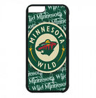 Minnesota Wild Phone Case For iPhone X XS Max 8 8+ 7 6 Plus 5 4 Black TPU Cover $13.95 USD on eBay