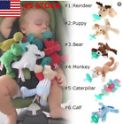 US Baby Dummy Funny Pacifier Chain Clip Plush Animal Toys Soother Nipples Holder