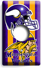 Minnesota Vikings Football Team Light Switch Outle Wall Plate Cover Room Decor photo