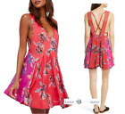 FREE PEOPLE LARGE Thought I Was Dreaming Dress RED New Tags blg