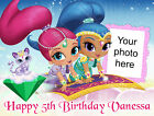 Shimmer and Shine personalised edible icing cake topper in 3 sizes