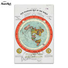 Flat Earth Map - Gleason's New Standard Map Of The World Canvas Print Poster