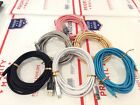 10FT 3M Fabric Nylon Micro USB Cord Charging Cable For Samsung LG ZTE Android