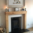 Oak Beam Fire Surround Wooden Fireplace Mantelpiece Upstands Log Burner Mantle