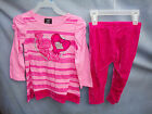 HART STREET Strawberry Cream VelourTunic Set w/Velour Leggings *GIRL SIZES NWT