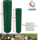 PVC Coated Green Chicken Rabbit Wire 30m 45m 2 widths Mesh Aviary Fencing Garden